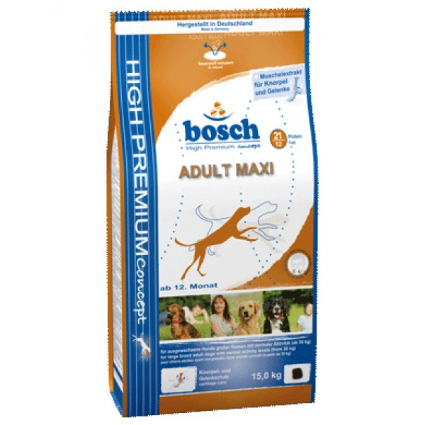 Pachet Bosch Adult Maxi 15 Kg + 3 Kg + Galeata